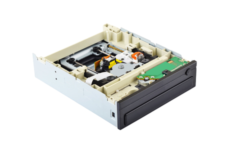 dvd rom: Detailed view of the inside of DVD disk drive (cd-rom) Stock Photo