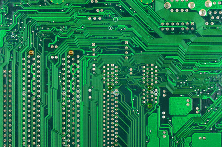 terabyte: Close up of a printed green computer circuit board