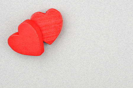 Heart on cardboard background, card for Valentines day Stock Photo