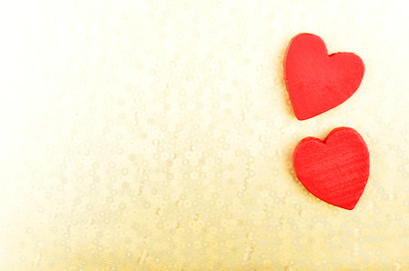 Heart on decorative background, card for Valentines day