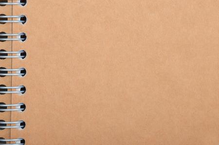 Blank de la couverture en carton du bloc-notes avec un liant Banque d'images