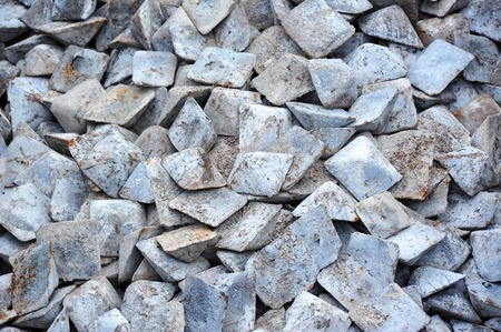 Close up of semi-finished pig iron, ready for shipment