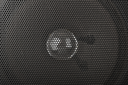 Close up tape-recorder dynamic speaker with grid