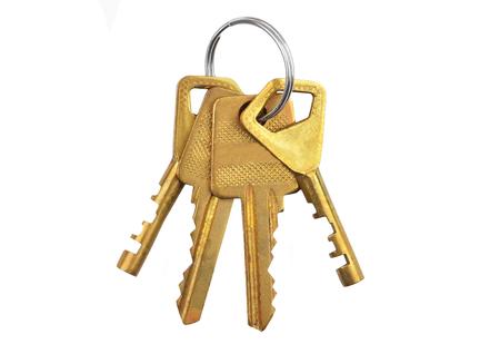Set of key, isolated on white background