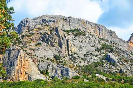 Rock landscape and sky, Foros, Crimea, Ukraine, 2013 year Stock Photo