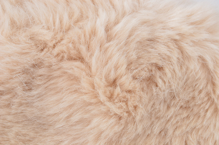 Close up of beige synthetical fur textured background