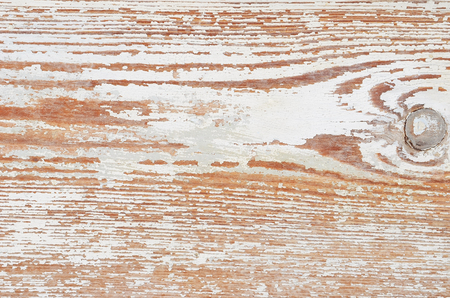 Vintage wooden background with white peeling paint