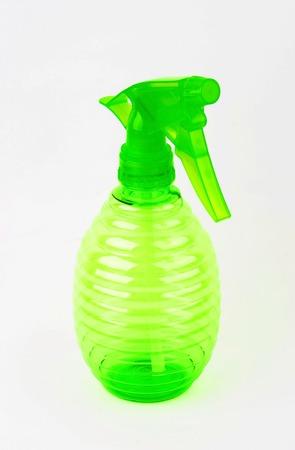 Plastic spray bottle, isolated on white background