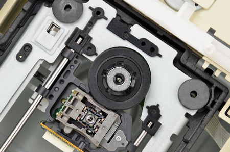 Mechanism of PC DVD disk drive (cd-rom)
