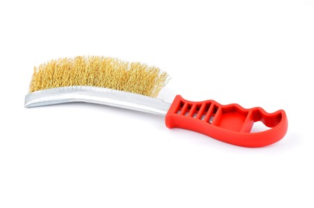 Wire brush for grinding, isolated on white background