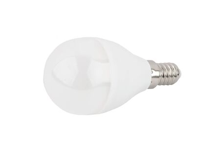 Low-energy LED bulb, isolated on white background