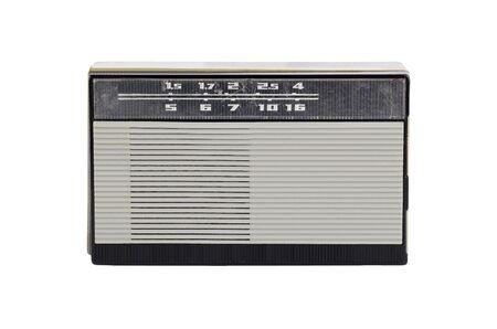 Soviet retro radio, isolated on white background Banco de Imagens