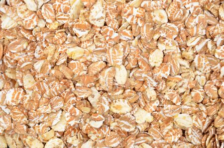 Oatmeal kernel, close up as natural background