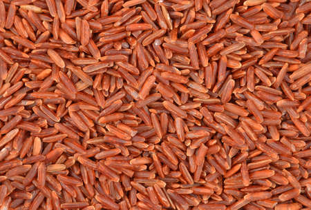 Brown rice close up as natural background