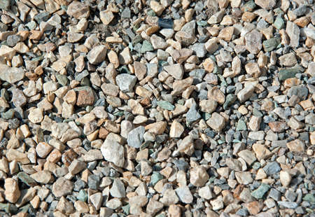 Close up of gray gravel as background Banque d'images