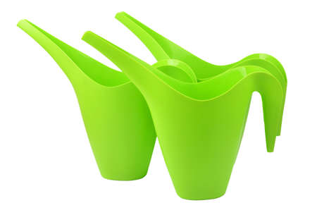 Plastic watering pot, isolated on white background Standard-Bild - 167165035