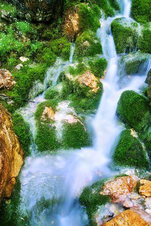 peacefull: A little waterfall  Stock Photo