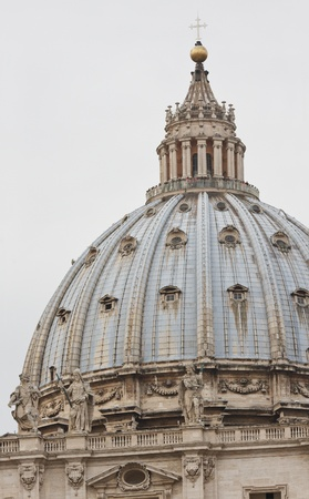peters: Saint Peters basilica in Rome, dome detail