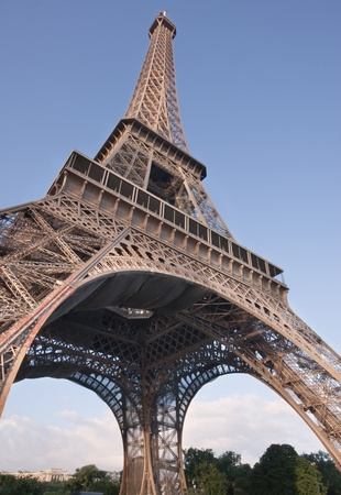The famous eiffel tower in Paris, France photo