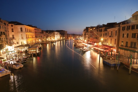 Grand Canal in Venice by night photo