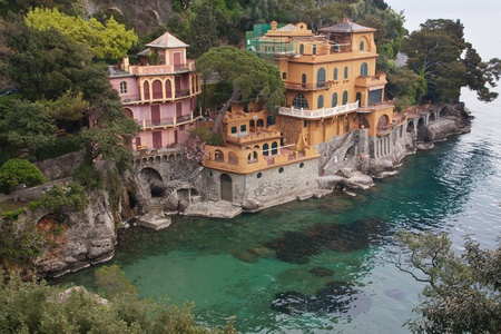 mediterranean houses: Italian villa on the sea - Portofino, Liguria