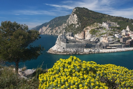 The beautiful Portovenere village in Liguria, Italy photo