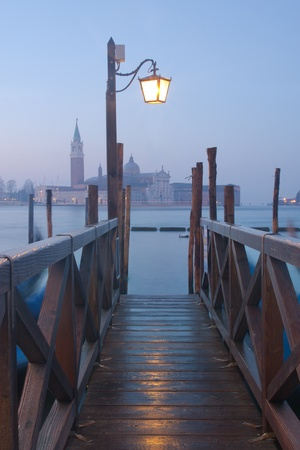 View of Venice at twilight photo