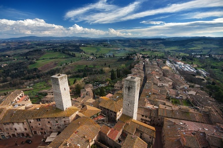 The Famous San Gimignano medieval town in Tuscany, Italy Stock Photo - 9498127