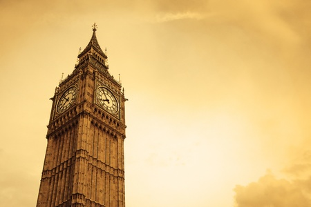 Big Ben in London, UK, with copy space photo