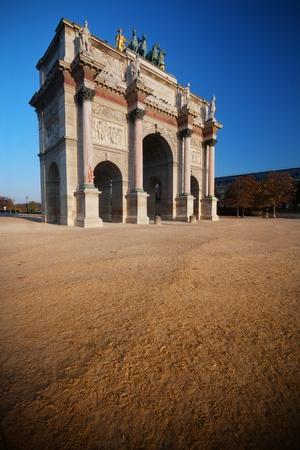 carrousel: Arc de Triomphe du Carrousel  in Paris Stock Photo