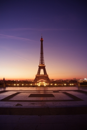 Paris, France - Eiffel tower at sunset