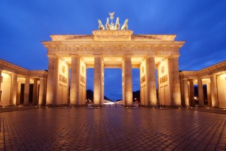 brandenburg: Brandenburg Gate in Berlin, Germany, at dusk Stock Photo
