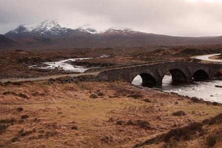 The Cuillins, Isle of Skye seen from Sligachan photo
