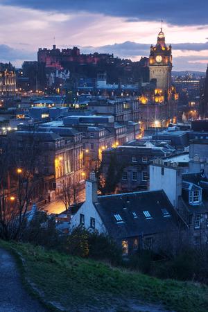 lothian: Edinburgh skyline from Calton Hill