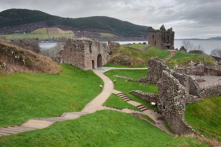 ness: Urquhart Castle, Loch Ness, Scotland Editorial