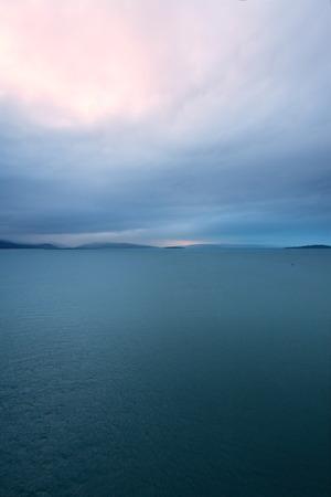 water scape: Mountains on the sea on Skye Island, Scotland Stock Photo