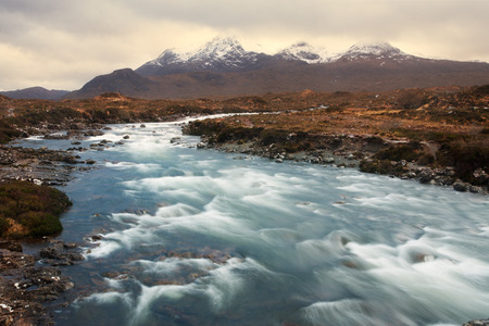 The Cuillins, Isle of Skye seen from Sligachan photo