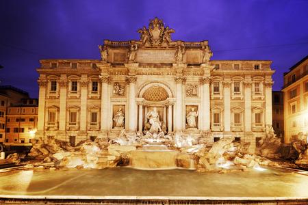 italian fountain: Trevi Fountain (Italian: Fontana di Trevi) in Rome at dusk