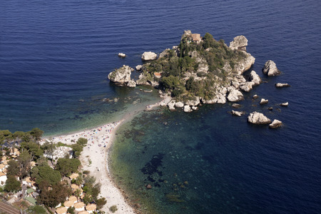 isola: Taormina, Sicily: Isola Bella (beautiful island) seen from above