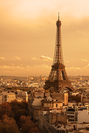 'tour eiffel': Paris, France: Eiffel Tower Eiffel Tower at sunset