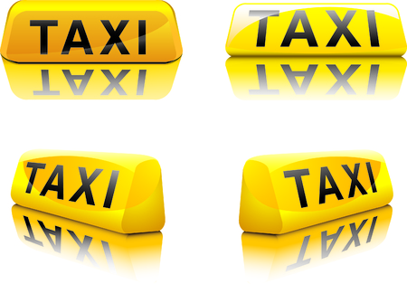 taxi cab: New York Taxi Sign Illustration