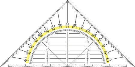protractor: detailed illustration of a protractor
