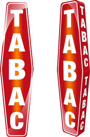 French Tabac Sign Vector