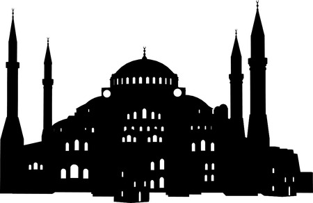 hagia sophia: detailed illustration of Hagia Sophia