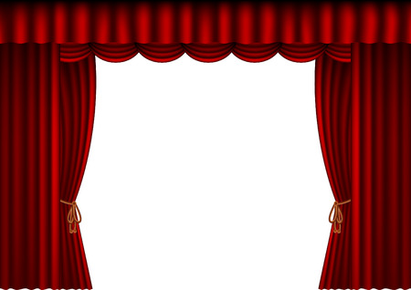 stage projector: illustration of a theatre curtain