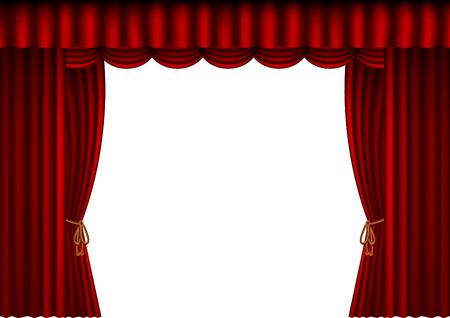 cinema auditorium: illustration of a theatre curtain