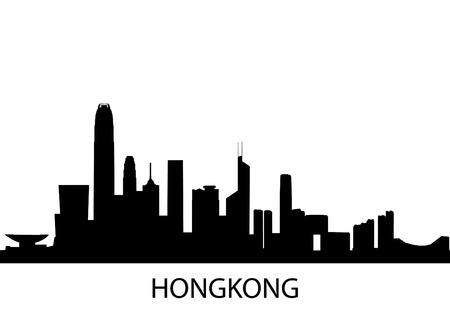 detailed illustration of Hong Kong, China