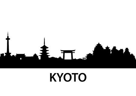 detailed illustration of Kyoto, Japan Vector