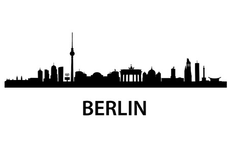 detailed vector skyline of Berlin
