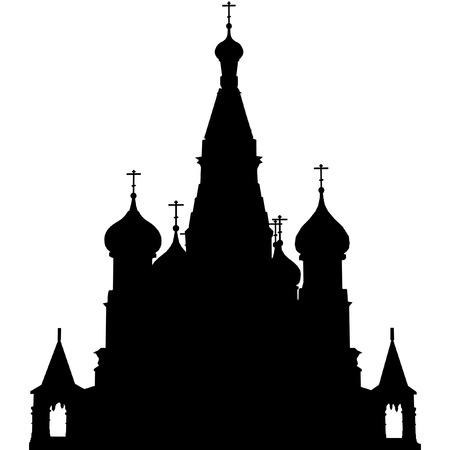 vector outline of St. Basils Church, Moscow Vector
